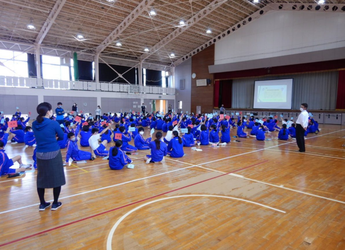 中学生を対象とした防災講座が開催されました。